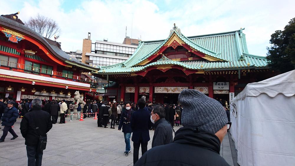 1月5日の神田明神本殿前